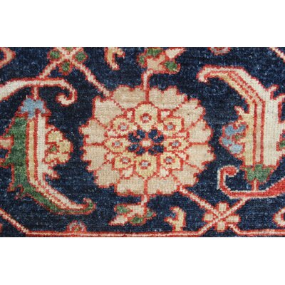 Woodmoor Isah Hand-Knotted Wool Rust Area Rug