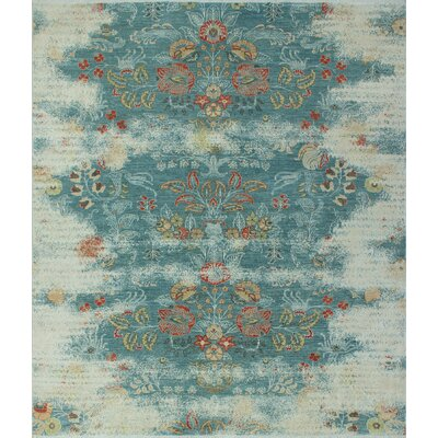 One-of-a-Kind Longoria Distressed Shafiqa Hand-Knotted Wool/Silk Rust Area Rug