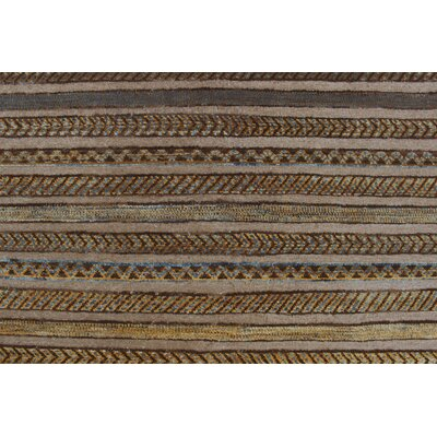 Thomas Arezo Hand-Knotted Wool Brown Area Rug