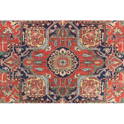 Woodmoor Xebaida Hand-Knotted Wool Red Area Rug