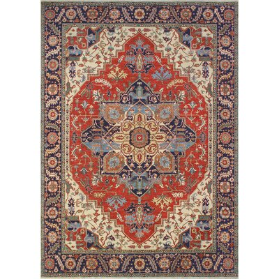 One-of-a-Kind Woodmoor Khalique Hand-Knotted Wool Rust Area Rug