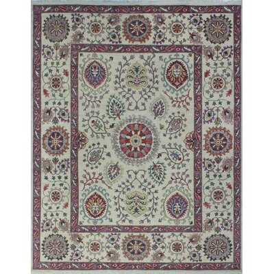 One-of-a-Kind Woodmoor Royan Hand-Knotted Wool Ivory Area Rug