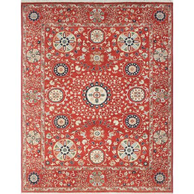 One-of-a-Kind Woodmoor Hadia Hand-Knotted Wool Rust Area Rug