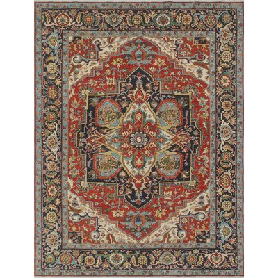 Woodmoor Nasira Hand-Knotted Wool Rust Area Rug