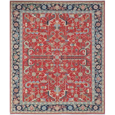 Woodmoor Arzou Hand-Knotted Wool Rust Area Rug
