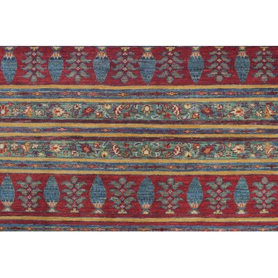 Trevor Khorshid Hand-Knotted Wool Red Area Rug