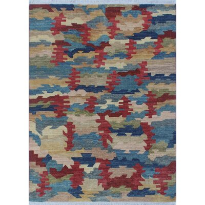 Antione Modern Zeena Hand-Knotted Wool Beige Area Rug