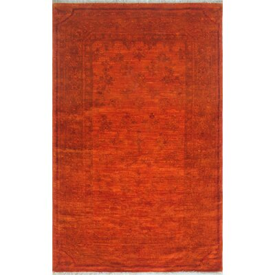 Chaney Naazi Hand-Knotted Wool Orange Area Rug