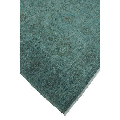 One-of-a-Kind Chaney Rasoul Hand-Knotted Wool Blue/Grey Area Rug