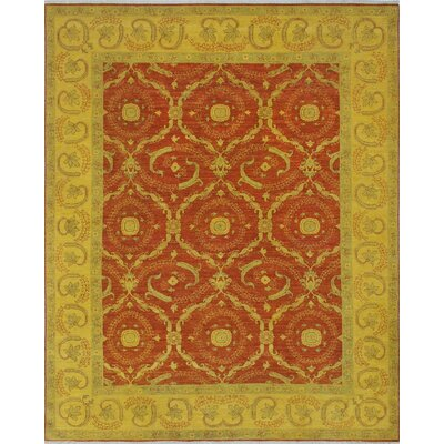 Chaney Halia Hand-Knotted Wool Gold Area Rug