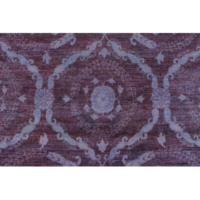 Chaney Farzad Hand-Knotted Wool Purple Area Rug