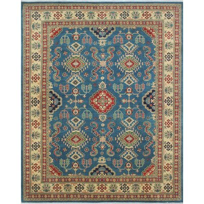 One-of-a-Kind Tomas Hussain Hand-Knotted Wool Blue Area Rug