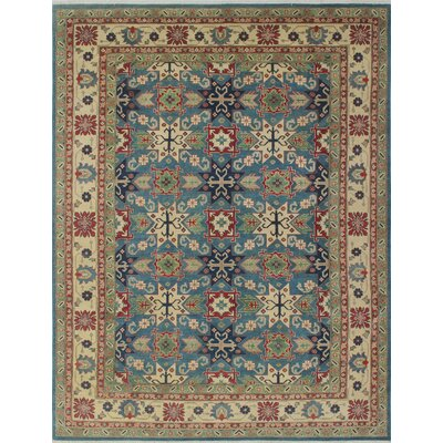 Tomas Moneera Hand-Knotted Wool Blue Area Rug