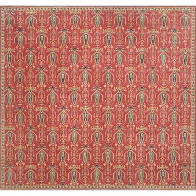 One-of-a-Kind Tomas Naim Hand-Knotted Wool Rust Area Rug