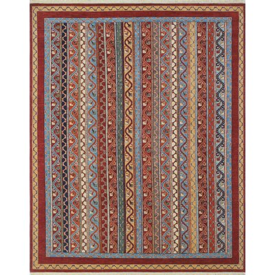 One-of-a-Kind Trevor Homayoon Hand-Knotted Wool Rust Area Rug