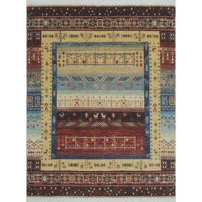 Woodmoor Yosuf Hand-Knotted Wool Gold Area Rug