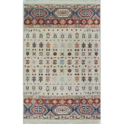 One-of-a-Kind Trevor Pamir Hand-Knotted Wool Ivory Area Rug