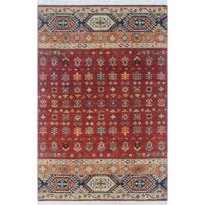 Trevor Angela Hand-Knotted Wool Red Area Rug