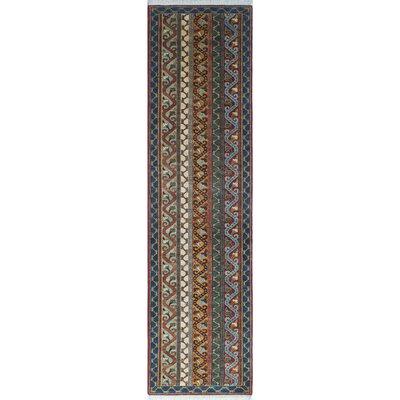 Trevor Tarik Hand-Knotted Wool Blue Area Rug