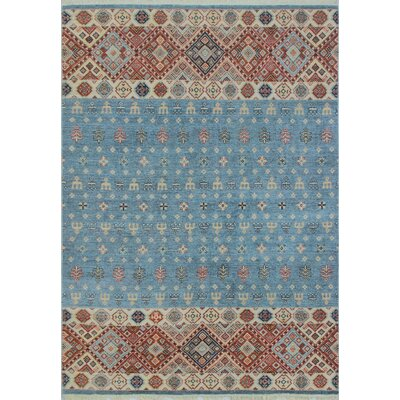 Trevor Assad Hand-Knotted Wool Blue Area Rug
