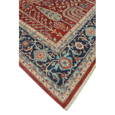 One-of-a-Kind Woodmoor Baktash Hand-Knotted Wool Red Area Rug