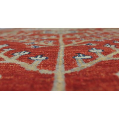 One-of-a-Kind Woodmoor Alima Hand-Knotted Wool Red Area Rug