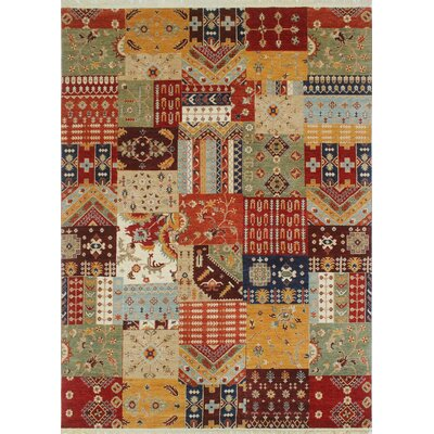 One-of-a-Kind Trevor Khaleeq Hand-Knotted Wool Red Area Rug