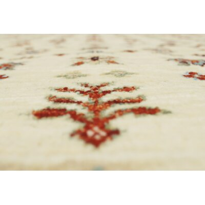 Trevor Mishaal Hand-Knotted Wool Ivory Area Rug