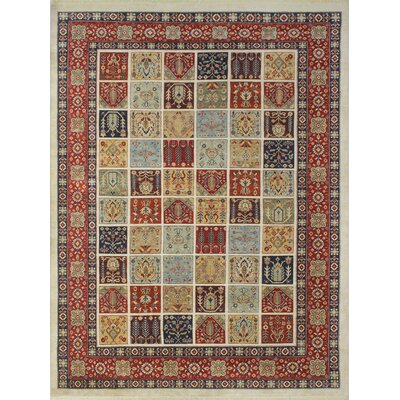 Trevor Amini Hand-Knotted Wool Ivory Area Rug