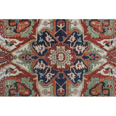 Woodmoor Javid Hand-Knotted Wool Red Area Rug