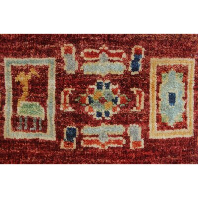 Woodmoor Zakeya Hand-Knotted Wool Rust Area Rug