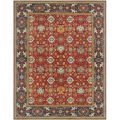 Woodmoor Bashra Hand-Knotted Wool Rust Area Rug