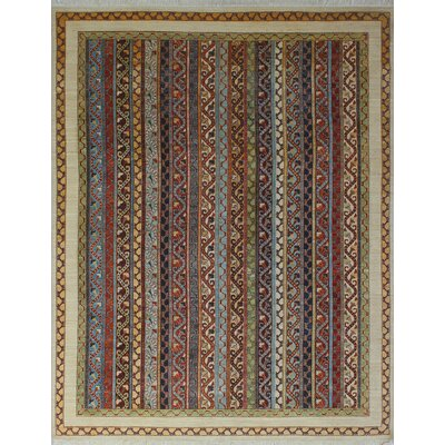 One-of-a-Kind Trevor Zarlashta Hand-Knotted Wool Ivory Area Rug