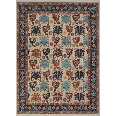 One-of-a-Kind Woodmoor Gormal Hand-Knotted Wool Ivory Area Rug