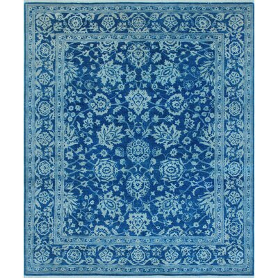 One-of-a-Kind Turner Nazir Hand-Knotted Wool/Silk Blue Area Rug
