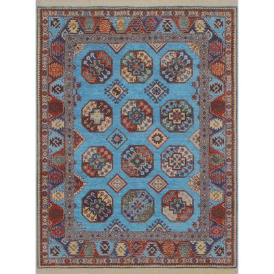 Woodmoor Fawzia Hand-Knotted Wool Blue Area Rug