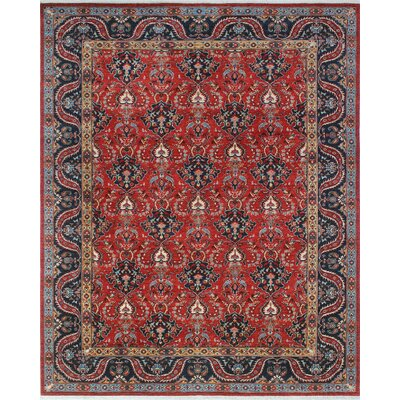 One-of-a-Kind Woodmoor Babrak Hand-Knotted Wool Red/Rust Area Rug