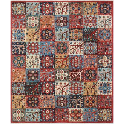 Woodmoor Helmand Hand-Knotted Wool Rust Area Rug