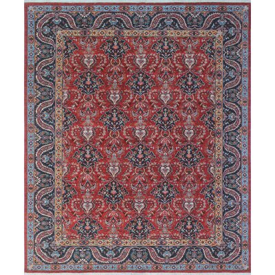 Woodmoor Trina Hand-Knotted Wool Red/Rust Area Rug
