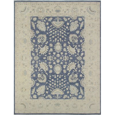 Rosewood Hand-Knotted Wool Blue/Grey Area Rug