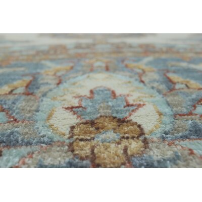 One-of-a-Kind Longoria Bahualdin Hand-Knotted Wool Ivory Area Rug