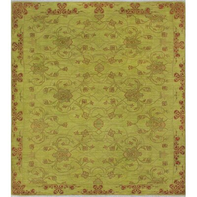 One-of-a-Kind Chaney Yusuf Hand-Knotted Wool Green Area Rug