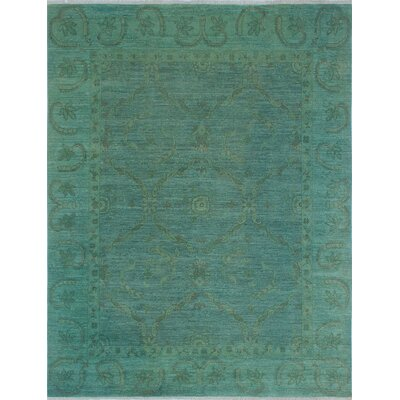 Chaney Nazia Hand-Knotted Wool Green Area Rug