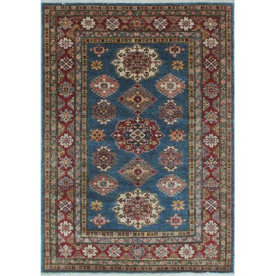 Chanell Mosah Hand-Knotted Wool Blue Area Rug