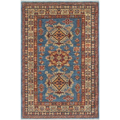 Chanell Mazari Hand-Knotted Wool Blue Area Rug