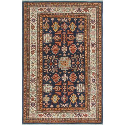 Chanell Naqeba Hand-Knotted Wool Blue Area Rug