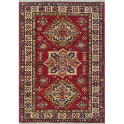 Chanell Zaman Hand-Knotted Wool Red Area Rug