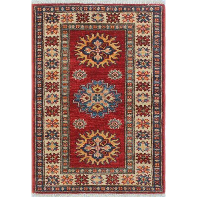 One-of-a-Kind Felder Reza Hand-Knotted Wool Red Area Rug