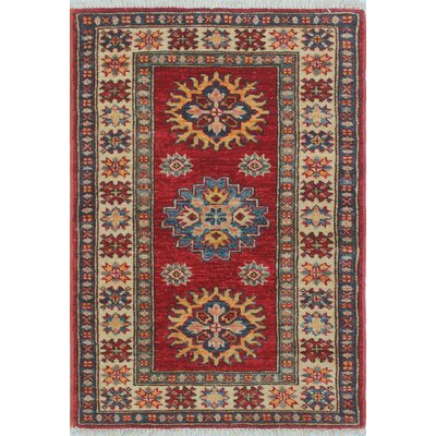 Chanell Yasamen Hand-Knotted Wool Red Area Rug