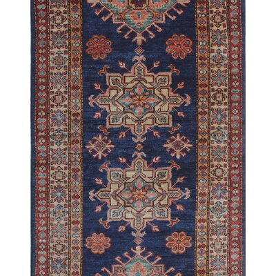 Chanell Latif Hand-Knotted Wool Blue Area Rug